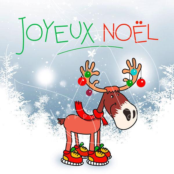 images-cartes-de-voeux-2019-originales carte joyeux noel • Happy renne ©apparence