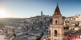 First light over Sassi di Matera, Basilicata, Italy