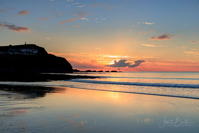 Borth beach sunset
