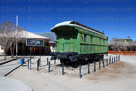Vintage carriage outside railway station, Uyuni, Bolivia