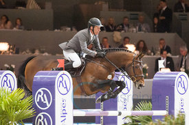 Beerbaum, Ludger  with Chaman, (GER),  Lyon, Eurexpo, 18.04.14, LONGINES FEI WORLD CUP JUMPING FINAL - WCF-S Final 1