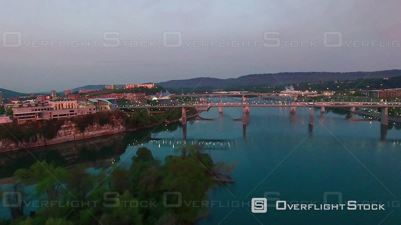 Walnut Street Bridge and Hunter Museum Chattanooga Tennessee