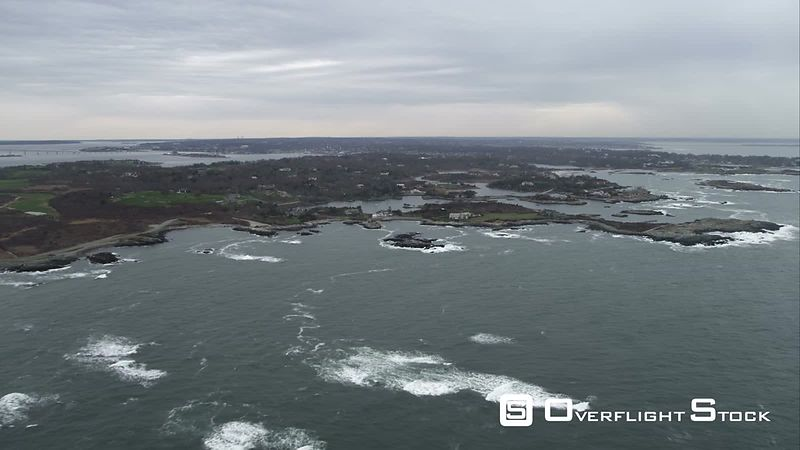 Approaching Newport, Rhode Island. Shot in November