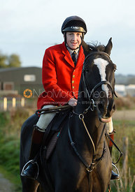 Hartley Crouch leaving the meet - The Cottesmore Hunt at the kennels 21/10