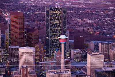 Calgary Tower and Bow Building