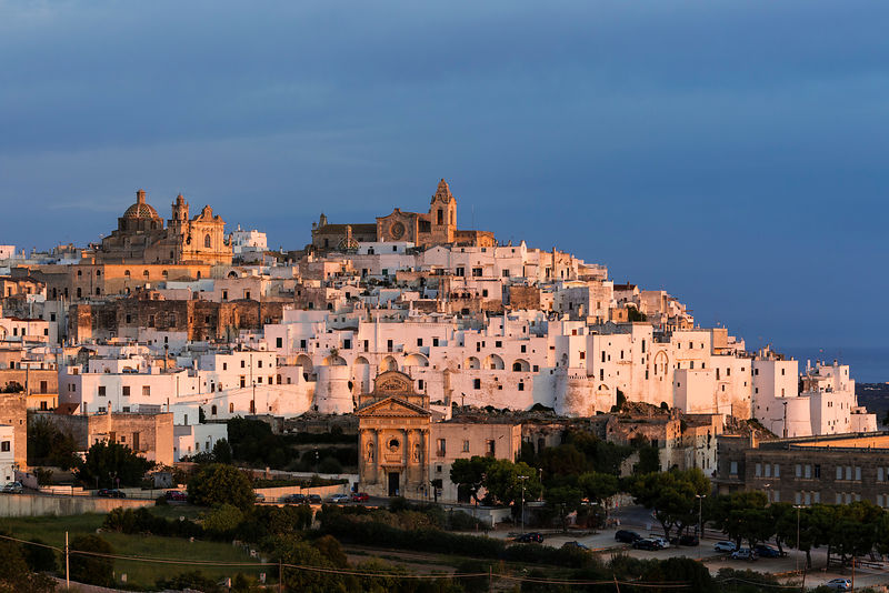 Elevated View of the Centro Storico of Ostuni at Sunrise