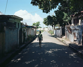 Pouyatt Street, outside where Amy once lived, Kingston, Jamaica