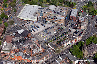 aerial photograph of Marston's ( formerly Wolverhampton & Dudley) Park Brewery  Wolverhampton  UK