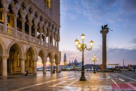 Sunrise over St Mark's square and Doges palace, Venice