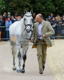 Bill Levett and SILK STONE - First Horse Inspection, Mitsubishi Motors Badminton Horse Trials 2014