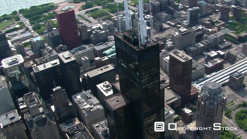 Orbiting the Sears Tower in Chicago.