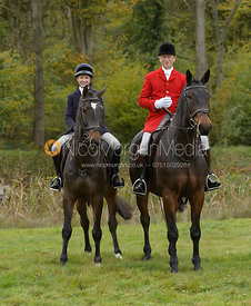 Amelia Leeming, Nicholas Leeming at the meet - Cottesmore Hunt Opening Meet, 24/10/2017