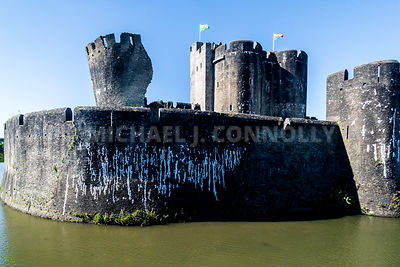 Leaning Turret, Caerphilly Castle- Caerphilly, Wales