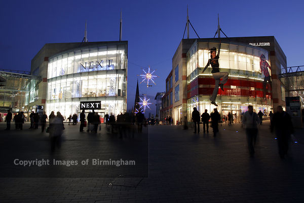 Retail therapy at the Bullring Shopping Centre in Birmingham, UK.