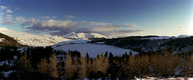 Guery lake in winter, Auvergne