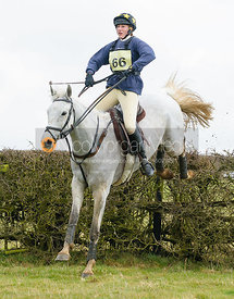 Emily-Rose Perez-Fragero jumping the last - The Harborough Ride 2010