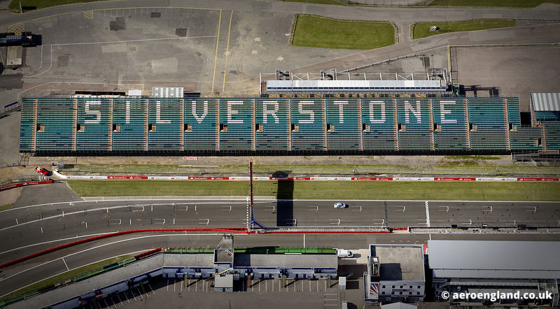 aerial photograph of Silverstone Circuit Northamptonshire England UK