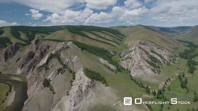 North Darkhad Valley Drone Video Mongolia