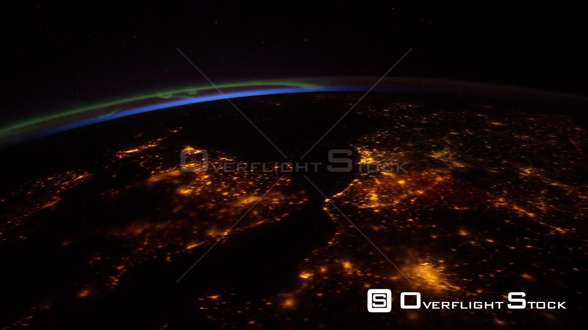 TimeLapse from ISS_Europe City Lights 14 Apr 2012 from Space