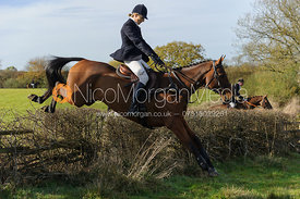 Zoe Gibson jumping a fence near the Wisp