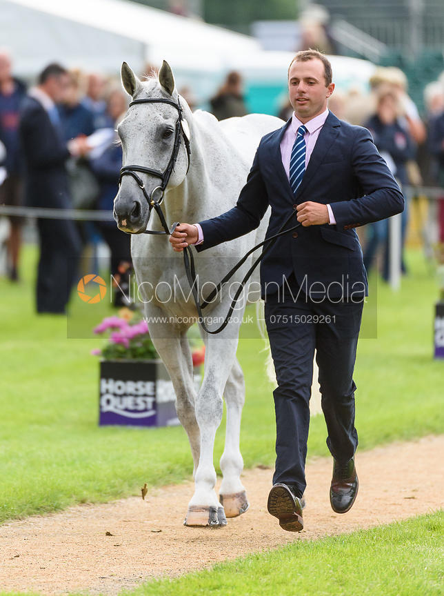 Harry Dzenis and XAM at the trot up, Land Rover Burghley Horse Trials 2018