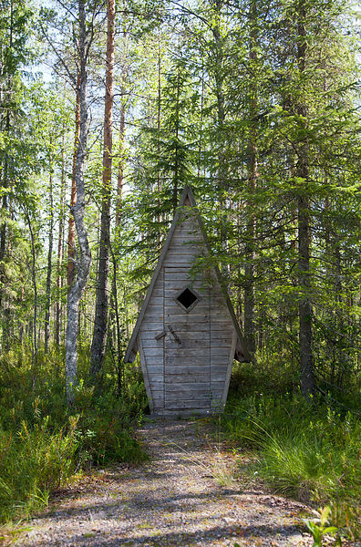 Outhouse in Murennuskoski Camping Site on the Lestijoki Paddling Route