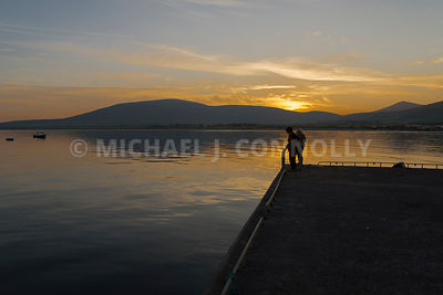 Sunset on Ventry Harbor (Color)- Ventry, Ireland