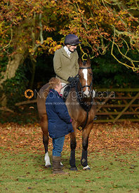 Jodie Parr at the meet - The Cottesmore at Somerby 5/11