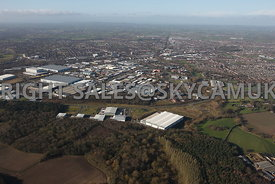 Crewe aerial photograph of Orion Park Industrial Estate University Way