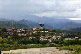 Wine Glass / Copa de Vino monument in San Martin district and River Guadalquivir, Tarija, Bolivia