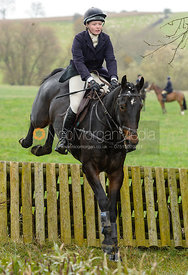 Meghan Healy jumping the hunt jump at Peakes Covert