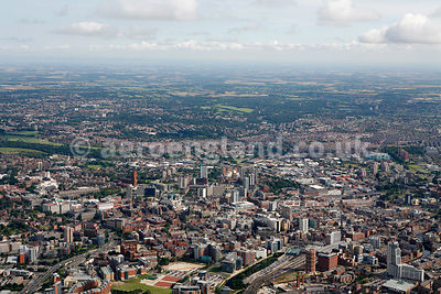 panoramic aerial photograph of Leeds UK