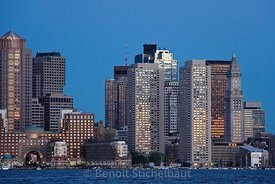 Etats-Unis, Massachusetts, Boston, City Skyline viewwed across Boston harbour