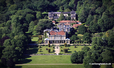 aerial photograph of Gunton  Hall Norfolk England UK