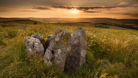 Summer evening light at Five Wells Chambered Tomb
