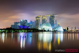 Marina Bay Sands and Gardens by the Bay at night, Singapore