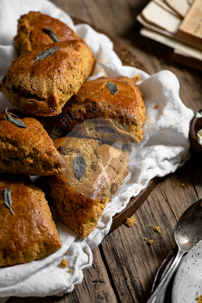 Pumpkin Scones and Coffee