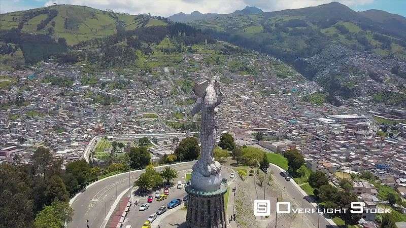 Loma El Panecillo Winged Virgin Mary Statue Quito Ecuador