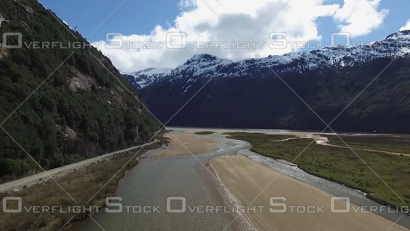Back Road and River Patagonia South America