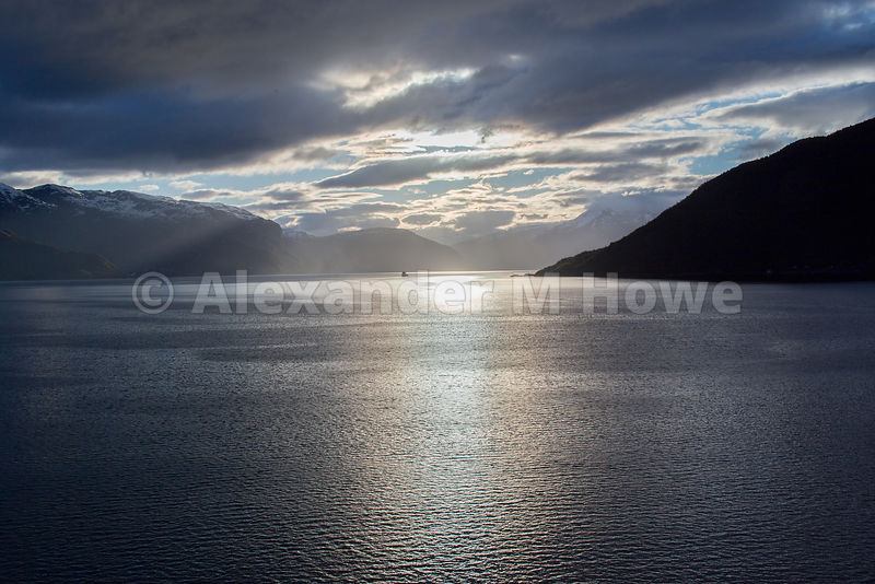 Silvery Light during a Sunrise in the Hardangerfjord