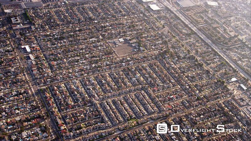 HA Aerial View Of Urban Sprawl, RED R3D 4k California