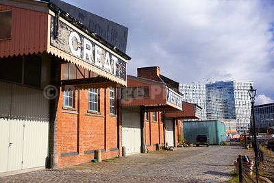 The Old Great Western Railway Warehouse by Canning Graving Docks in Liverpool