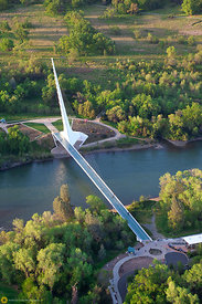 Sundial Bridge From the Air #5