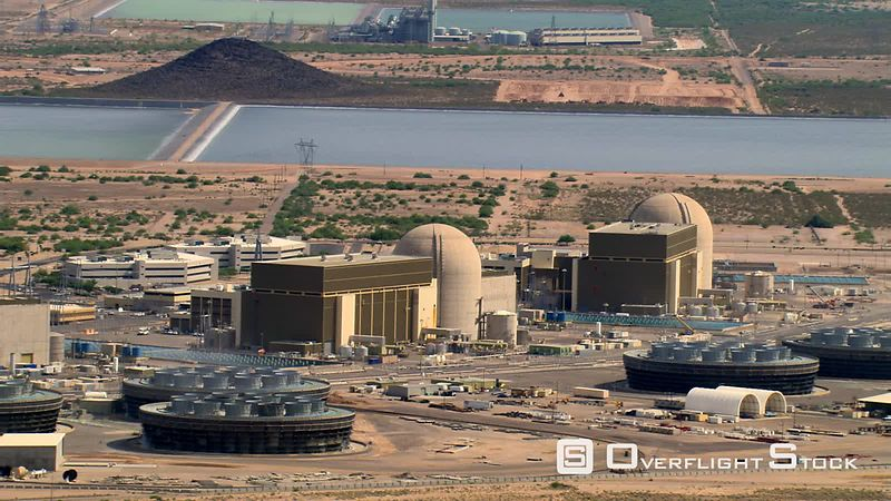 Flight around Palo Verde Nuclear Power Plant