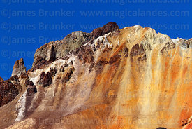 Close up of crater rim and summit of Tunupa volcano, Oruro Department, Bolivia