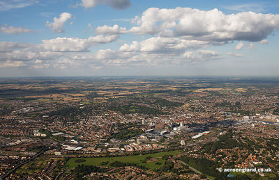 aerial photograph of Ipswich, Suffolk  UK