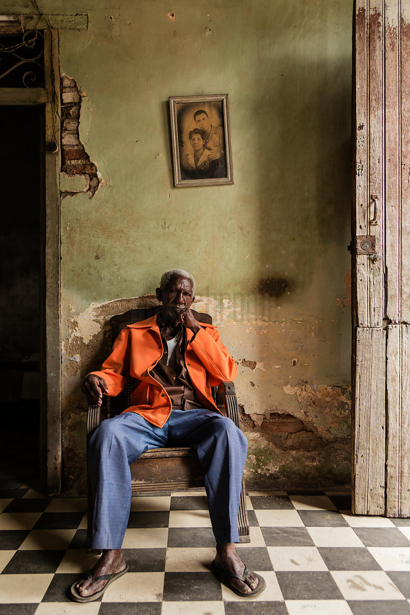Portrait of an Elderly Man in his Home