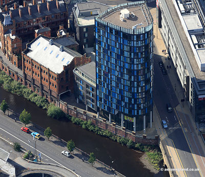 aerial photograph of the  i-Quarter building in Sheffield Yorkshire