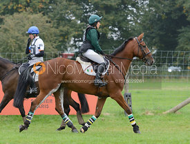 Sarah Wardell and KILLEENDUFF BOY - cross country phase,  Land Rover Burghley Horse Trials, 6th September 2014.