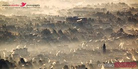 Varese in the mist, Italy
